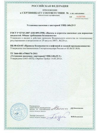 Prilojenie k sertifikatu